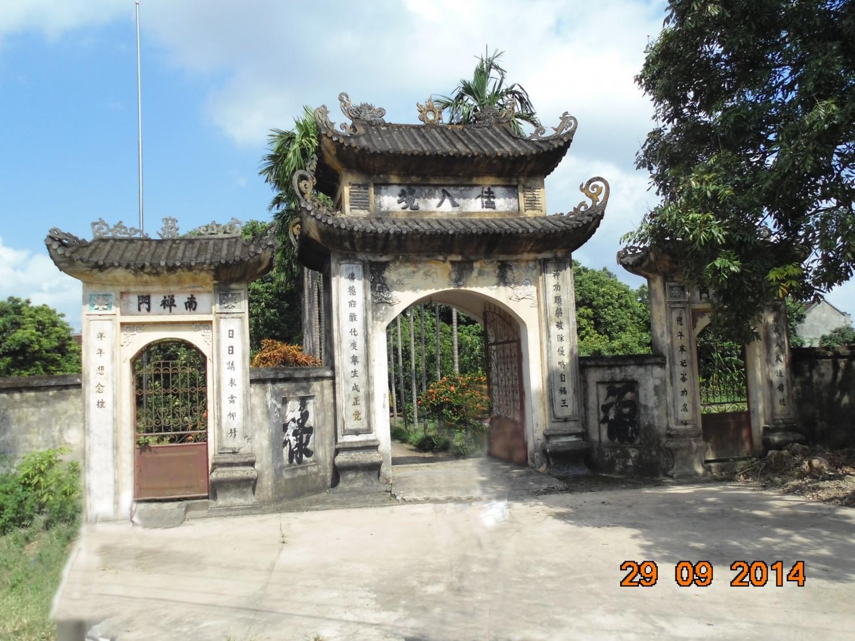 Cổng tam quan đền, chùa Thượng Tiêt