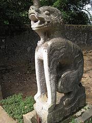 Nghê trước đền thờ Đinh Tiên Hoàng ở Hoa Lư Ninh Bình