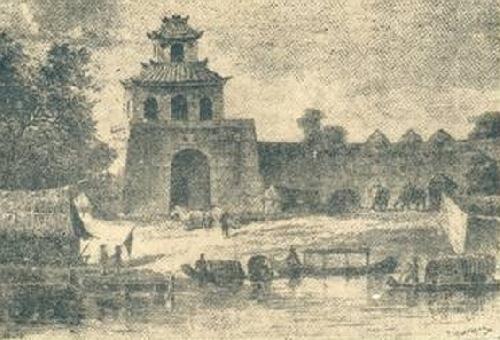 Cửa chính vào Đô thành Phú Xuân thời Nguyễn - Trịnh và thời Tây Sơn bên bờ bắc sông Hương - Ảnh: internet