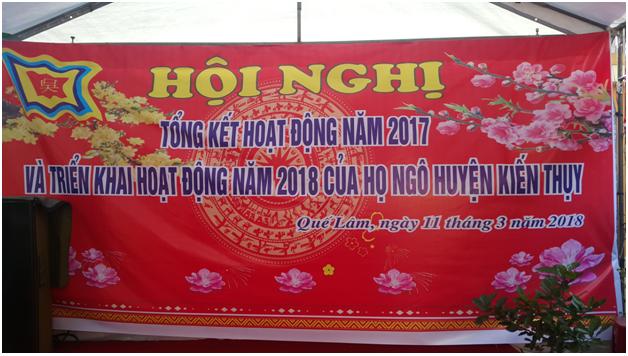 Họ Ngô Kiến Thụy tổng kết hoạt động năm 2017